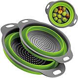 Силиконовый дуршлаг Collapsible filter baskets (дуршлаг дуршлак друшляк друшлак), фото 6