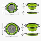Силиконовый дуршлаг Collapsible filter baskets (дуршлаг дуршлак друшляк друшлак), фото 9