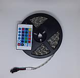 Лента светодиодная (светодиодная лента влагозащищенная) SMD LED (многоцветная) с пультом управления, фото 4
