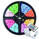 Лента светодиодная (светодиодная лента влагозащищенная) SMD LED (многоцветная) с пультом управления, фото 6