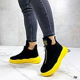 Только 41 р! Женские ботинки ДЕМИ/ осенние черные с желтым натуральная замша, фото 7