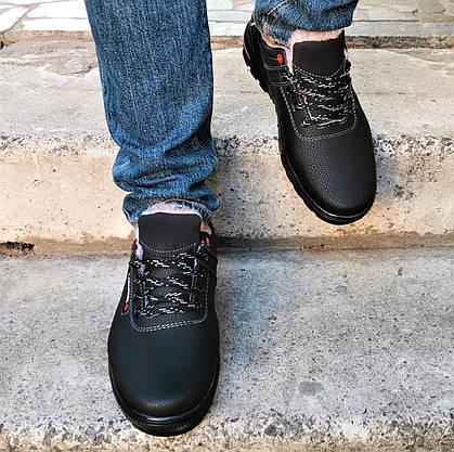 Кросівки ЗИМОВІ Чоловічі Коламбія Туфлі на Хутрі Чорні (розміри: 44) Відео Огляд, фото 3