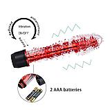 Женский вибратор  реалистик интимный силиконовый. Вибромассажер. Секс игрушка. Фалоиммитатор (розовый), фото 4