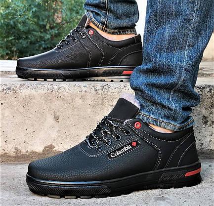 Кросівки ЗИМОВІ Чоловічі Коламбія Туфлі на Хутрі Чорні (розміри: 44) Відео Огляд, фото 2
