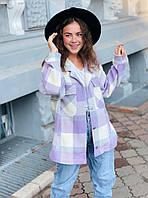 Трендовая женская рубашка в клетку, фото 1