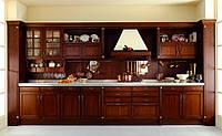 Кухня из дерева ольха
