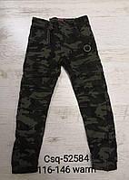 Котонові штани-джоггеры на флісі для хлопчиків Seagull 116-146 р. р.