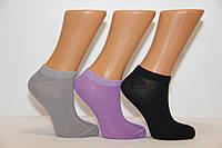 Женские носки короткие с бамбука КЛ 36-40 темные ассорти