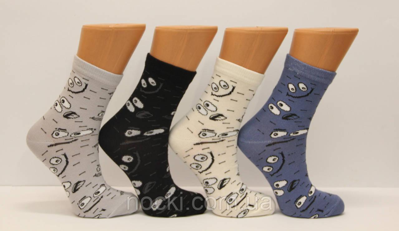 Жіночі шкарпетки високі стрейчеві з бавовни комп'ютерні STYLE LUXE КЛ kjv kjsv120 оченята