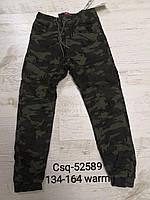 Котонові штани-джоггеры на флісі для хлопчиків Seagull 134-164 р. р.