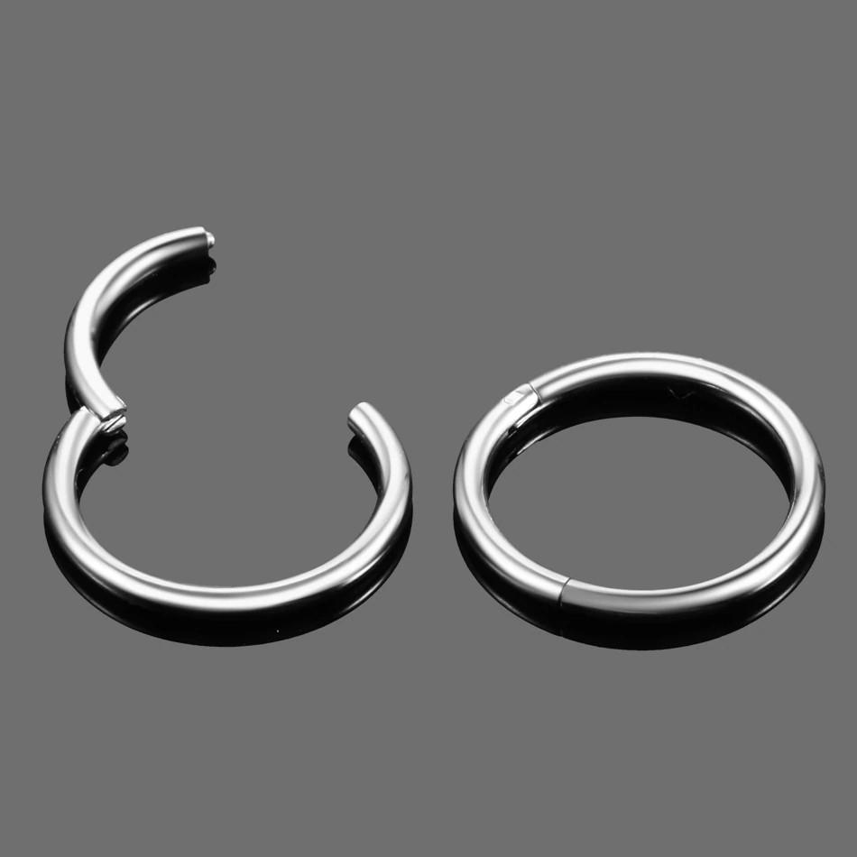 Кольцо сегментное кликер титан серебристый