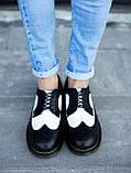 Мужские осенние туфли Dr. Martens low (full black), мужские туфли Доктор Мартенс (Реплика ААА), фото 5