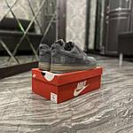 Чоловічі кросівки Nike air force low luxury suede (сірі) 516TP, фото 3