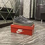 Чоловічі кросівки Nike air force low luxury suede (сірі) 516TP, фото 5