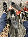 Чоловічі кросівки Nike air force low luxury suede (сірі) 516TP, фото 6