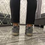 Чоловічі кросівки Nike air force low luxury suede (сірі) 516TP, фото 8