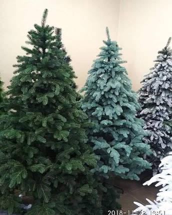Новогодняя искусственная литая ель 3 метра Ковалевская зеленая, фото 2