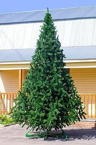 Новогодняя искусственная литая ель 4 метра Ковалевская голубая