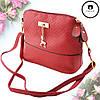Женская сумка клатч Бэмби + Подарок часы D.W  / Сумка Бемби Красная  (23 x 20 x 10 см), фото 2