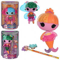 Кукла русалочка с крыльями и карандашом