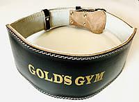 Ремінь для важкої атлетики gold's GYM шкір/зам р. XXL, XXXL шириною 15 див. на пряжці, фото 1