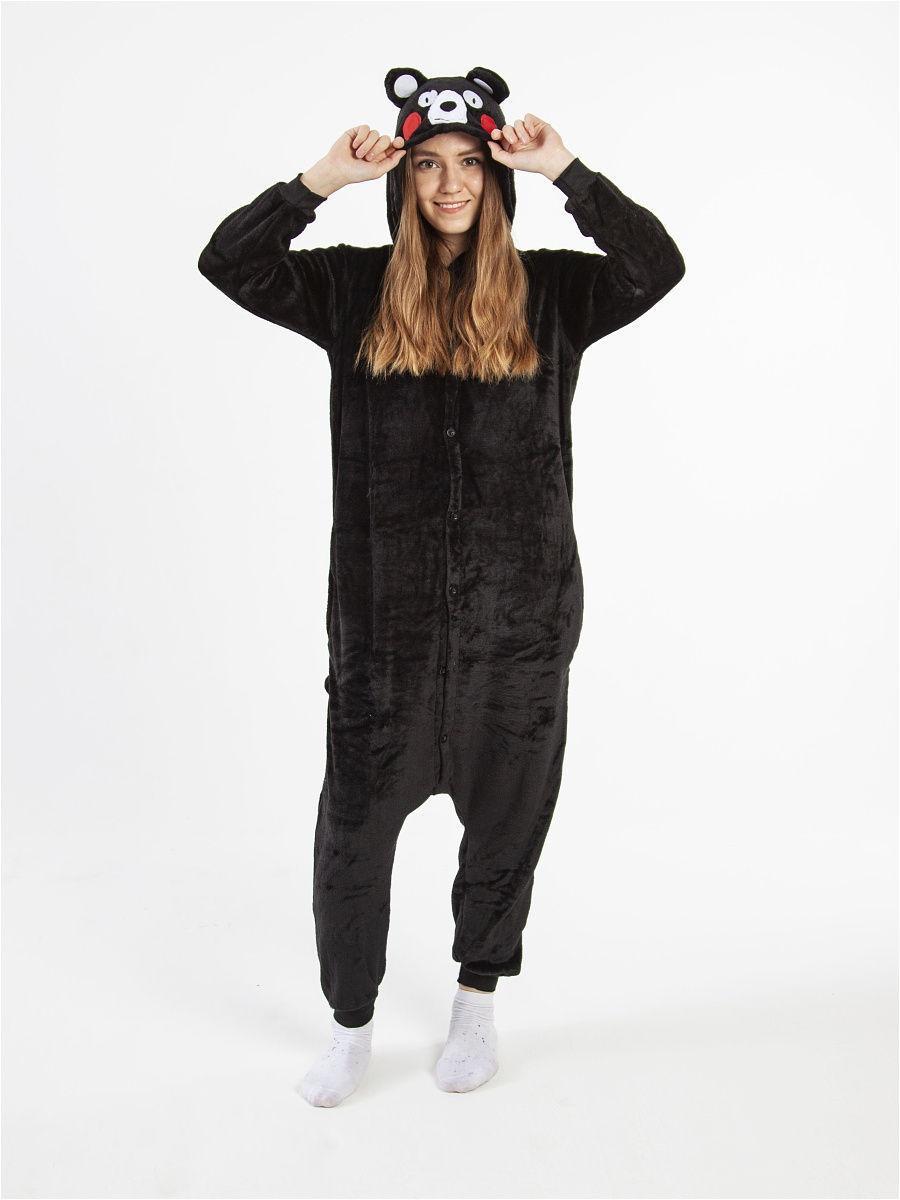 Пижама кигуруми Медведь черный S (150-160см)