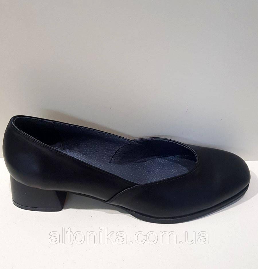 STTOPA 43р-28,5 см. Размеры 36-44. Кожаные туфли больших размеров. Каблук 4,5 см. С7-31-3644-45