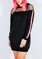 Черное платье-толстовка длинная Select, размер М, арт. 1218