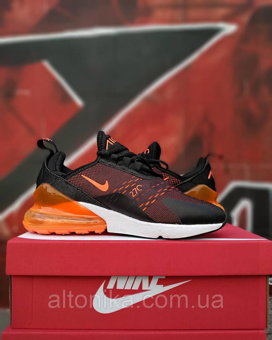 42р-26,5 см. Кроссовки Nike Air 270 Черно-оранжевые. NK-67-4145