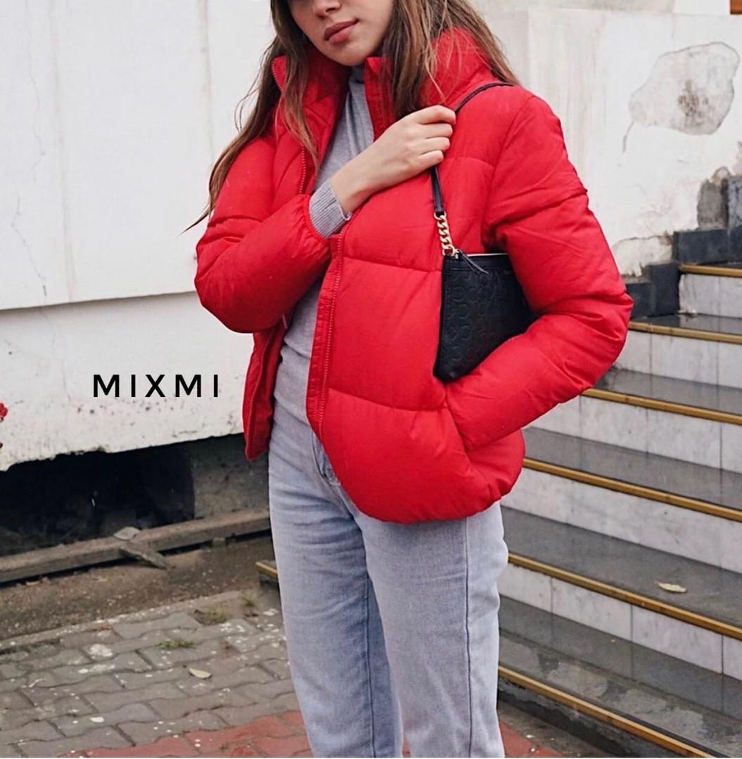 Женская куртка, плащёвка Канада + синтепон 200, р-р 42-44; 44-46 (красный)