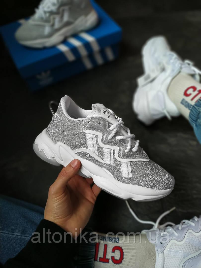 AD1-3640. Кроссовки Adidas Ozweego Silver.