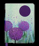 Ежедневник датированный Buromax 2021 Cherie A5 фиолетовий