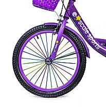 Велосипед T18 фиолетовый 18 дюймов, фото 2