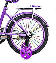Велосипед T18 фиолетовый 18 дюймов, фото 3