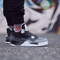 Мужские баскетбольные кроссовки Nike Air Jordan IV Retro Black-Grey (Топ реплика  ААА+ 740c20fdfc8