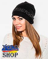 Женская шапка Обруч (черная)