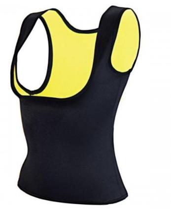 Майка с открытой грудью для похудения Yoga VEST размер XL, черная, фото 2