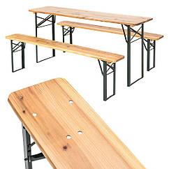 Садовая мебель стол +2 лавки 170 см раскладные Германия