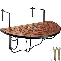 Балконный стол, мозаика, сложенная терракота