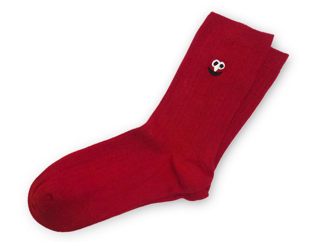 Носки Neseli Daily Premium Смайлы красные 7144