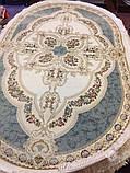 АКРИЛОВЫЙ КОВЕР PRESTIGE 15310 63 КРЕМОВЫЙ С ГОЛУБОЙ, фото 3