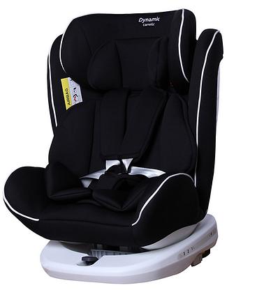 Автокресло с поворотом, и наклоном для сна. От 0 до 12 лет CARRELLO Dynamic ISOFIX CRL-13802 Carbon Grey, фото 2