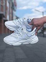 Мужские кроссовки Adidas Ozweego (белые) Рефлективные 442TP