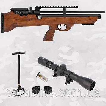 Hatsan Flashpup W bullpup set, PCP пневматическая винтовка + (Насос, Прицел 4х32) (Хатсан ФлешПап)
