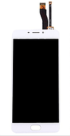 Дисплей (экран) для Meizu M5 Note мейзу + тачскрин, цвет белый