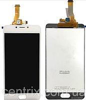Дисплей (экран) для Meizu M5c мейзу + тачскрин, цвет белый