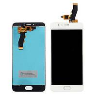 Дисплей (экран) для Meizu M5S, M5S mini мейзу + тачскрин, цвет белый
