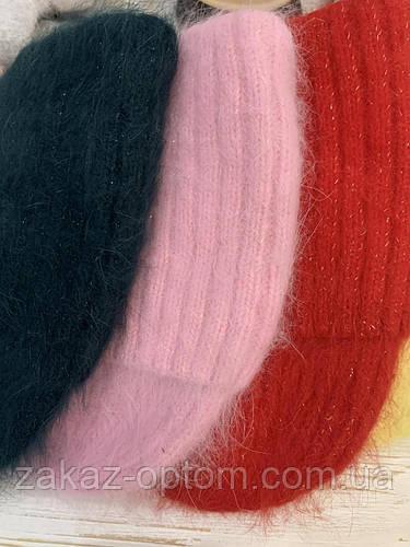 Шапка женская ангора оптом(56-57см)Украина 2002 60312