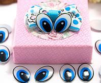 (10грамм ≈ 55-60 шт) Пластиковые овальные глазки для игрушек 15х11мм, без ресничек