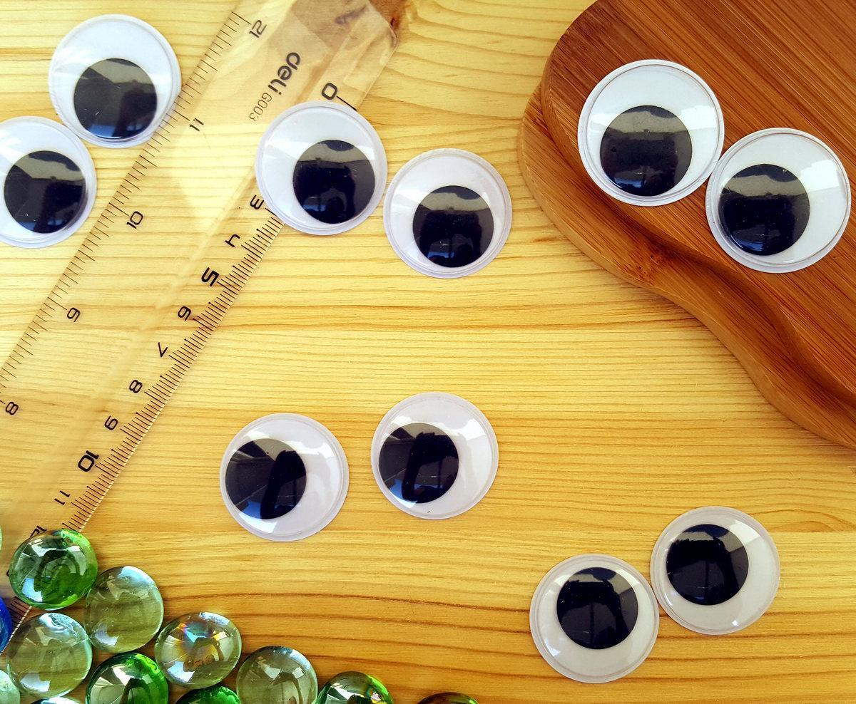 (10грамм, Ø30мм) Подвижные глазки для игрушек Ø30мм (≈14-16 глазок)